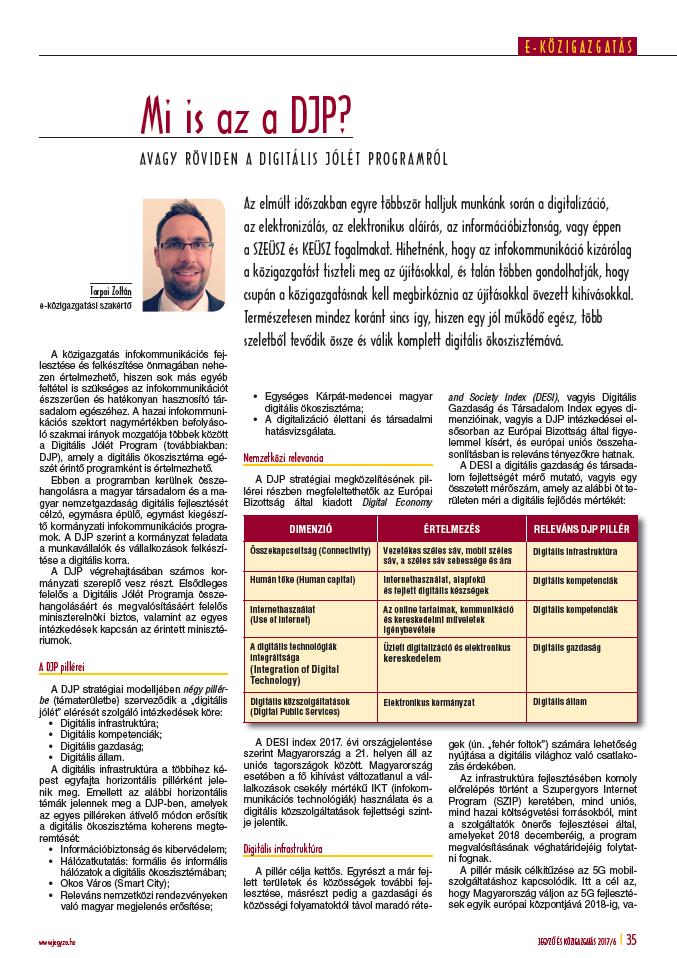 Digitális Jólét Program (2018. február)